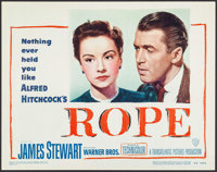 """Rope (Warner Brothers, 1948). Title Lobby Card (11"""" X 14""""). Hitchcock"""
