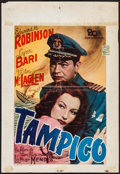 "Movie Posters:Drama, Tampico (20th Century Fox, 1947). First Post-War Release Belgian (16.25"" X 24.25""). Drama.. ..."