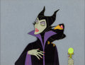 Animation Art:Production Cel, Sleeping Beauty Maleficent and Diablo Production Cel (WaltDisney, 1959)....