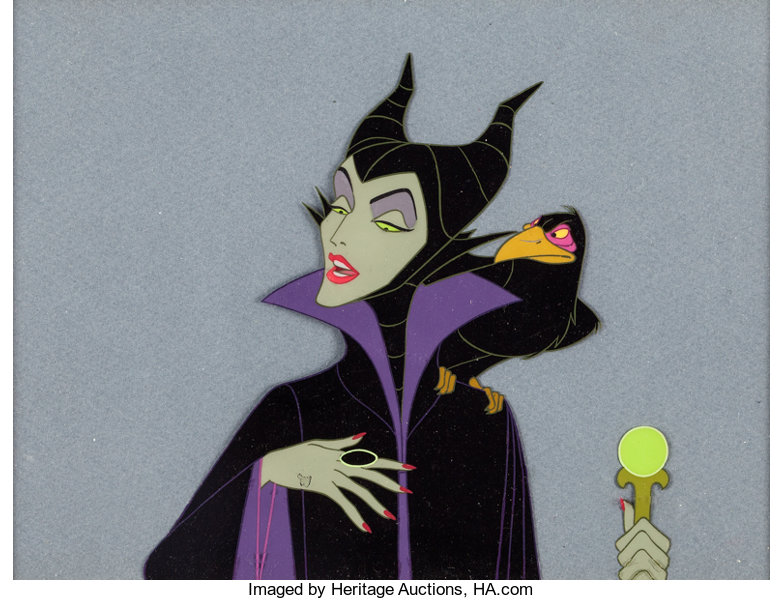 Sleeping Beauty Maleficent And Diablo Production Cel Walt