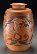 American Indian Art:Pottery, An Acoma/Hopi Polychrome Jar. Barbara Hayah Cerno (b. 1951). c.1997...