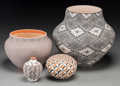 American Indian Art:Pottery, Four Acoma Pottery Jars. Delores Lewis, Rachel Concho, FredericaAntonio, Sandra Victorino. c. 2000... (Total: 4 Items)