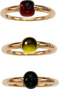 Estate Jewelry:Rings, Multi-Stone, Pink Gold Rings, Pomellato. ... (Total: 3 Items)