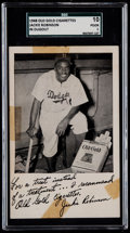 Baseball Cards:Singles (1940-1949), 1948 Old Gold Cigarettes Jackie Robinson (In Dugout) SGC 10 Poor1....