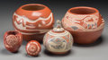 American Indian Art:Pottery, Five Santa Clara Pottery Jars. Grace Medicine Flower, Mary Cain,Margaret and Luther Gutierrez, Debra Duwyenie, Nicolasa N...(Total: 5 Items)