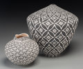 American Indian Art:Pottery, Two Acoma Black-On-White Jars. Shana Garcia-Rustin and DorothyTorivio. c. 1980 and 2000... (Total: 2 Items)