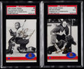 Hockey Cards:Lots, 1991 Future Trends Hockey Vladislav Tretiak & Ken Dryden GoldAutographs SGC Graded Pair (2).....