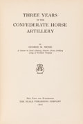 Books:Americana & American History, George M. Neese. Three Years in the Confederate HorseArtillery. New York and Washington: The Neale Publishing C...