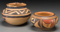 American Indian Art:Pottery, Two Small Southwest Pottery Jars . c. 1350 AD and 1950... (Total: 2Items)