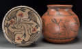 American Indian Art:Pottery, Two Santo Domingo Pottery Items. Robert Tenorio. c. 1998... (Total:2 Items)