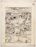 Original Comic Art:Splash Pages, Jim Wilcox Slam-Bang Comics #4 Splash Page 1 Original Art(Fawcett, 1940)....