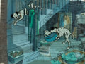 Animation Art:Production Cel, 101 Dalmatians Pongo and Perdita Production Cel and KeyMaster Painted Production Background Setup (Walt Disney, 1961)...