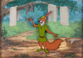 Animation Art:Production Cel, Robin Hood Production Cel and Master Production Background (Walt Disney, 1973)....