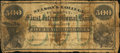 Obsoletes By State:Ohio, Cincinnati, OH- Nelson's College Currency - First InternationalBank $500 Sep. 1, 1870 . ...