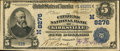 National Bank Notes, Kirksville, MO - $5 1902 Date Back Fr. 591 The Citizens NB Ch. #(M)8276. ...