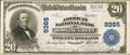National Bank Notes:Kentucky, Bowling Green, KY - $20 1902 Plain Back Fr. 652 The American NB Ch.# 9365. ...