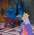 Animation Art:Production Cel, Sleeping Beauty The Queen and Good Fairies Production CelSetup (Walt Disney, 1959)....