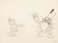 Animation Art:Production Drawing, El Terrible Toreador Waitress and Officer Animation Drawing(Walt Disney, 1929)....