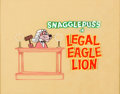 Animation Art:Production Cel, Legal Eagle Lion Snagglepuss Title Production Cel(Hanna-Barbera, 1961)....