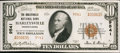 National Bank Notes:Pennsylvania, Harleysville, PA - $10 1929 Ty. 2 The Harleysville NB Ch. # 9541....