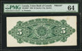 Canadian Currency: , Quebec City, PQ- Union Bank of Canada $5 Aug. 2, 1886 Ch. #730-10-02P Back Proof. ...