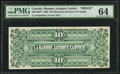 Canadian Currency: , Montreal, PQ- La Banque Jacques Cartier $10 June 1, 1886 Ch. #390-14-08P Back Proof.. ...