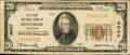 National Bank Notes:Colorado, Montrose, CO - $20 1929 Ty. 1 The First NB Ch. # 4007. ...