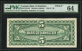 Canadian Currency: , Hamilton, ON- Bank of Hamilton $5 ND Ch. # 345-UNLbp Back Proof.....