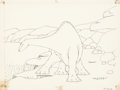 Animation Art:Production Drawing, Winsor McCay Gertie the Dinosaur Animation Drawing (1914)....