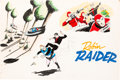 Animation Art:Concept Art, Doug Wildey Robin Raider Concept Art (Hanna-Barbera, c.1960s).... (Total: 3 Original Art)