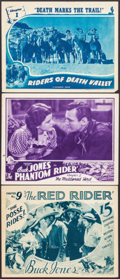 """The Red Rider & Others Lot (Universal, 1934). Lobby Cards (3) (11"""" X 14"""") Chapter 9 -- """"The Posse..."""