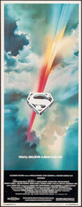 "Movie Posters:Action, Superman the Movie (Warner Brothers, 1978). Insert (14"" X 36""). Action.. ..."