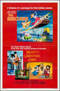 "Movie Posters:Animation, The Rescuers/Mickey's Christmas Carol Combo & Others Lot (Buena Vista, R-1983). One Sheets (4) (27"" X 40"" & 27"" X 41""). Anim... (Total: 4 Items)"