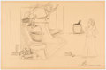 Animation Art:Production Drawing, Frank Follmer - Practice Piece Snow White Illustration(undated)....