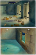 Animation Art:Painted cel background, The Jail Break Painted Background Group of 2 (Terrytoons,1946).... (Total: 2 Original Art)