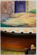 Animation Art:Painted cel background, Carmen's Veranda Painted Background (Terrytoons, 1944)....(Total: 2 Original Art)