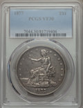 Trade Dollars: , 1877 T$1 VF30 PCGS. PCGS Population: (69/865). NGC Census: (37/629). VF30. Mintage 3,039,710. ...