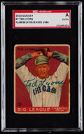 Baseball Cards:Singles (1930-1939), Signed 1933 Goudey Ted Lyons #7 SGC Authentic....
