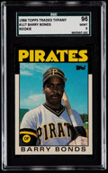 Baseball Cards:Singles (1970-Now), 1986 Topps Traded Tiffany Barry Bonds #11T SGC 96 Mint 9....
