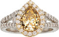 Estate Jewelry:Rings, Fancy Orange-Brown Diamond, Diamond, Gold Ring. ...