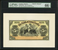 Canadian Currency, Kingston, Jamaica- The Bank of Nova Scotia £5 Jan. 2, 1920 Ch. # 550-38-02-08fp Face Proof.. ...
