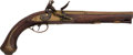 Handguns:Muzzle loading, British Brass-Barreled Flintlock Pistol....