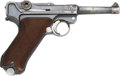 Handguns:Semiautomatic Pistol, DWM 1916 / 1920 Luger Semi-Automatic Pistol with Leather Holster....