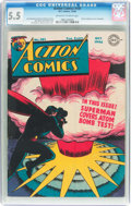 Golden Age (1938-1955):Superhero, Action Comics #101 (DC, 1946) CGC FN- 5.5 Off-white to white pages....