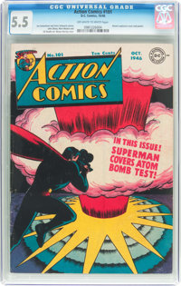 Action Comics #101 (DC, 1946) CGC FN- 5.5 Off-white to white pages