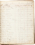 Military & Patriotic:Civil War, Cumberland Hospital in Nashville, Tennessee: Civil War Ledger Book of Patient Deaths, August 1863 - April 1866. ...
