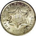 Three Cent Silver: , 1851-O 3CS MS65 NGC. Both by size and by weight, these are thesmallest coins produced by the United States Mint. The silve...