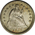 Seated Half Dimes: , 1850-O H10C AU58 NGC. V-2. Large O mintmark. The medium gray-goldensurfaces are lighter in color where luster persists. A ...