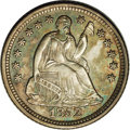 Seated Half Dimes: , 1852-O H10C MS63 NGC. The year 1852 offers considerable challengesto the O-mint Seated collector. The '52-O half dime, dim...