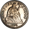 Seated Half Dimes: , 1858-O H10C MS62 NGC. V-1. High, open date with diagnostic diecrack from toe to rim (but extremely faint), on the reverse ...